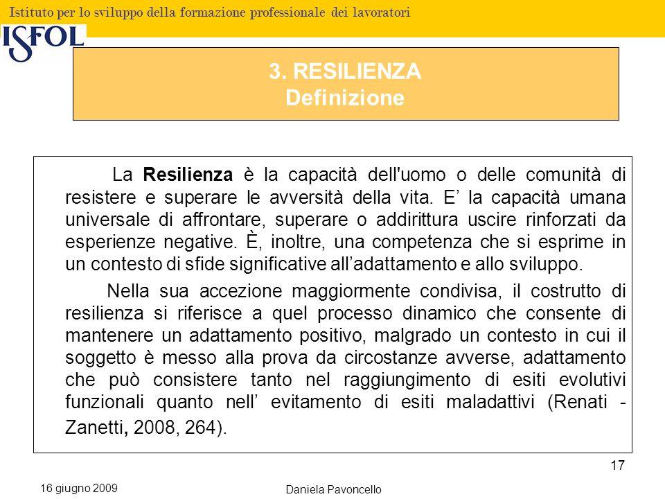 3. RESILIENZA Definizione