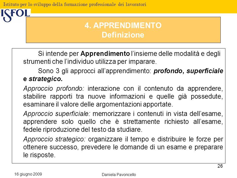 4. APPRENDIMENTO Definizione