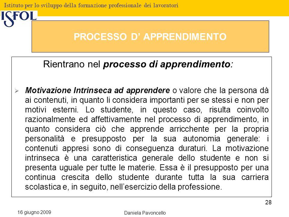 PROCESSO D' APPRENDIMENTO