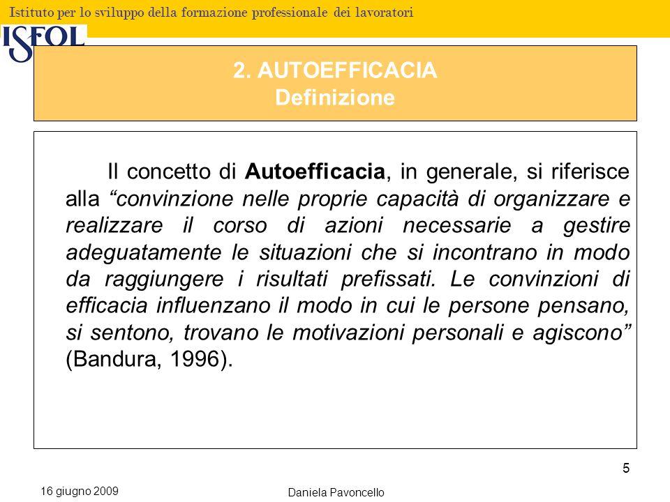 2. AUTOEFFICACIA Definizione