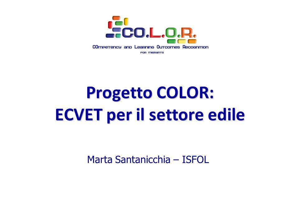 Progetto COLOR: ECVET per il settore edile