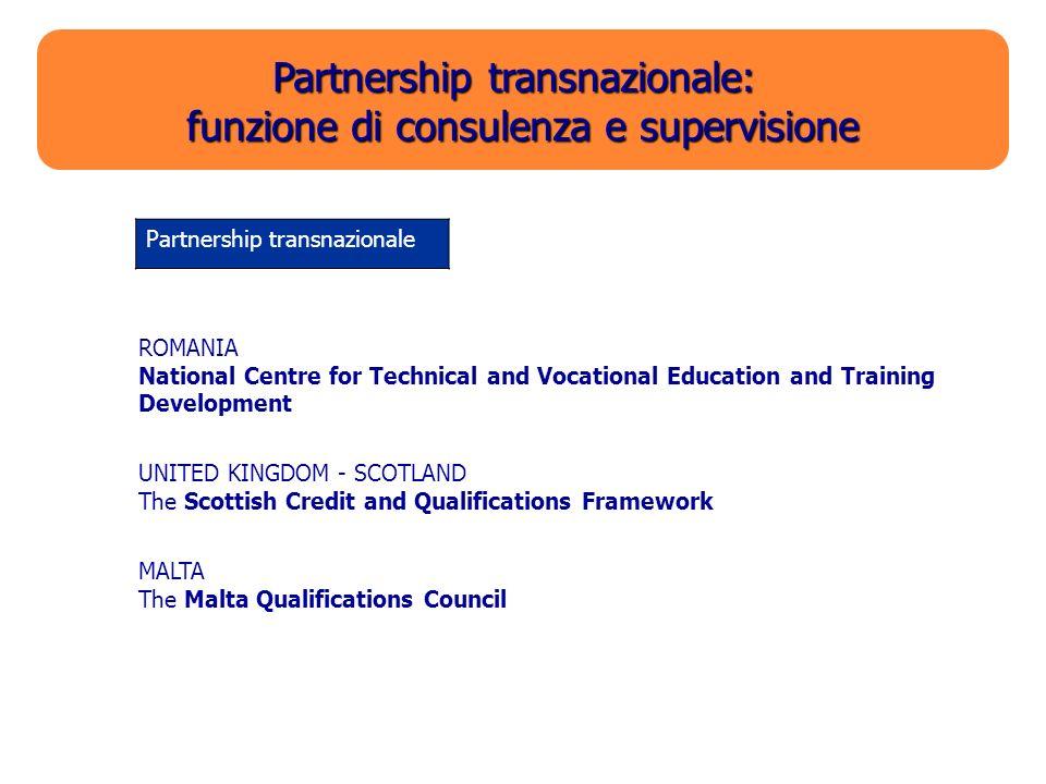Partnership transnazionale: funzione di consulenza e supervisione