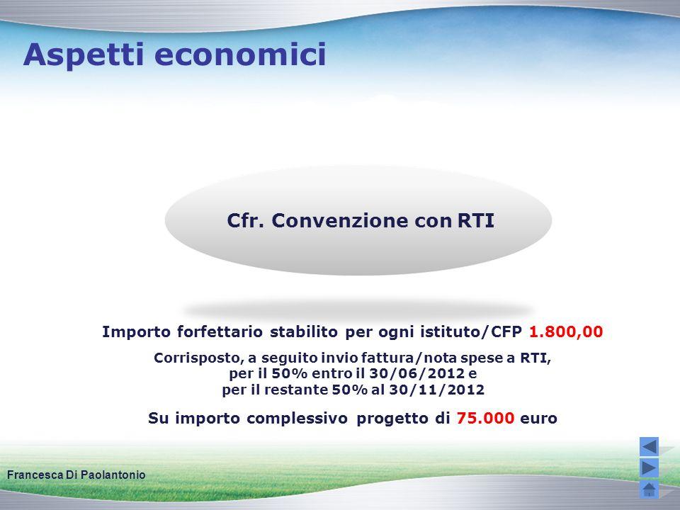 Aspetti economici Cfr. Convenzione con RTI