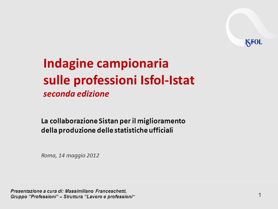 sulle professioni Isfol-Istat