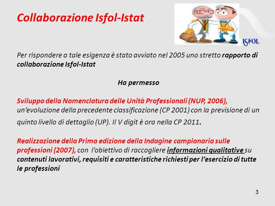 Collaborazione Isfol-Istat