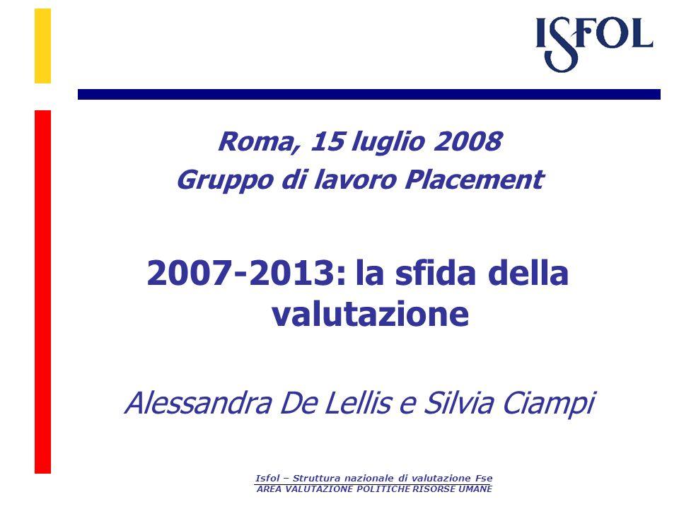 2007-2013: la sfida della valutazione