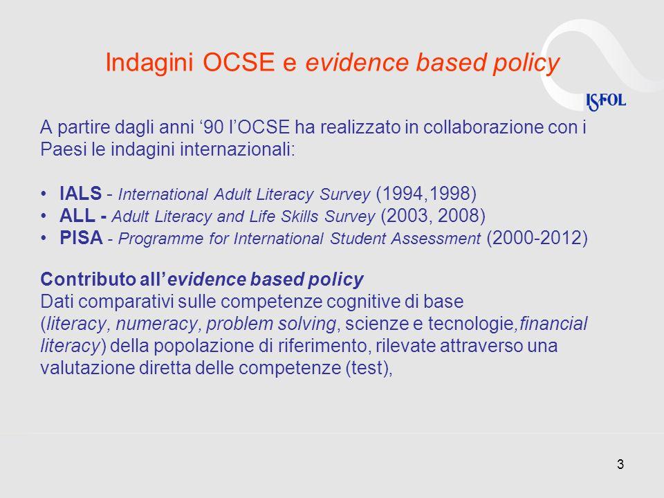 Indagini OCSE e evidence based policy