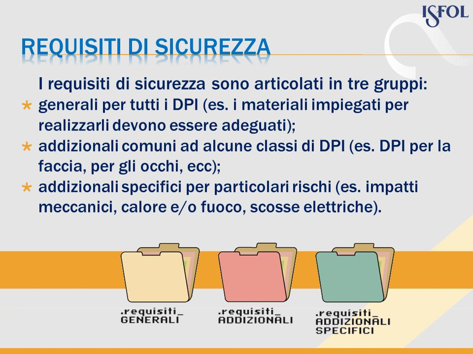 Requisiti di sicurezza