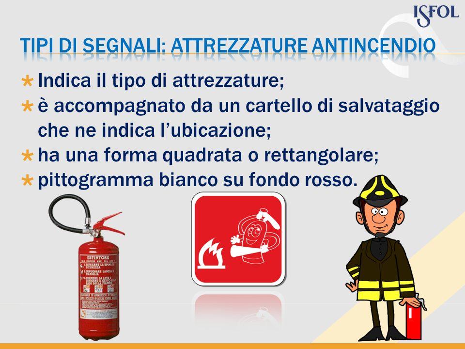 TIPI DI SEGNALI: attrezzature antincendio