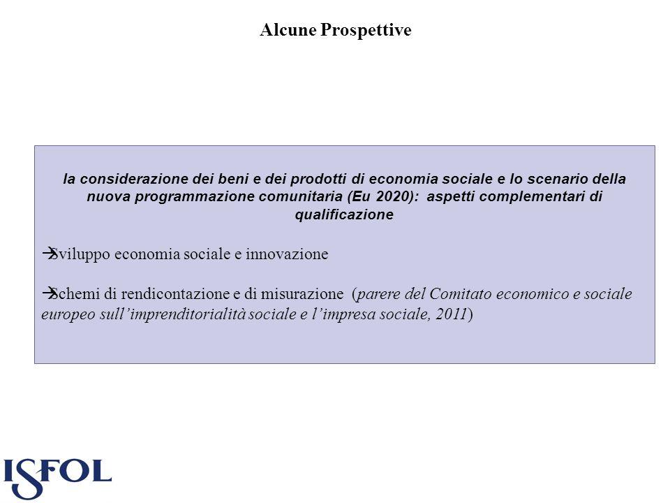Alcune Prospettive Sviluppo economia sociale e innovazione