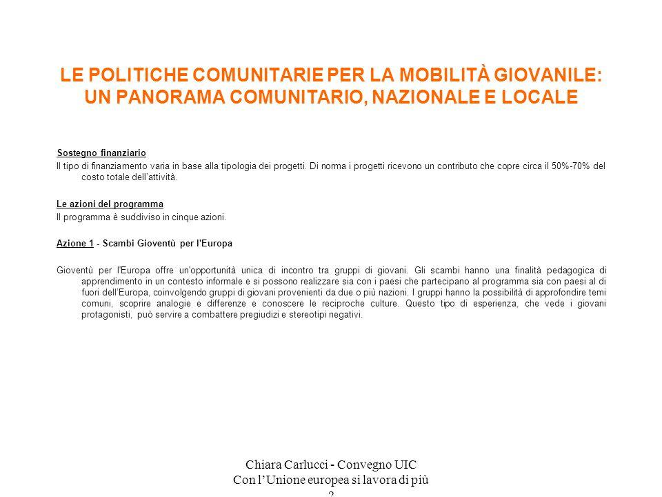 Chiara Carlucci - Convegno UIC Con l'Unione europea si lavora di più