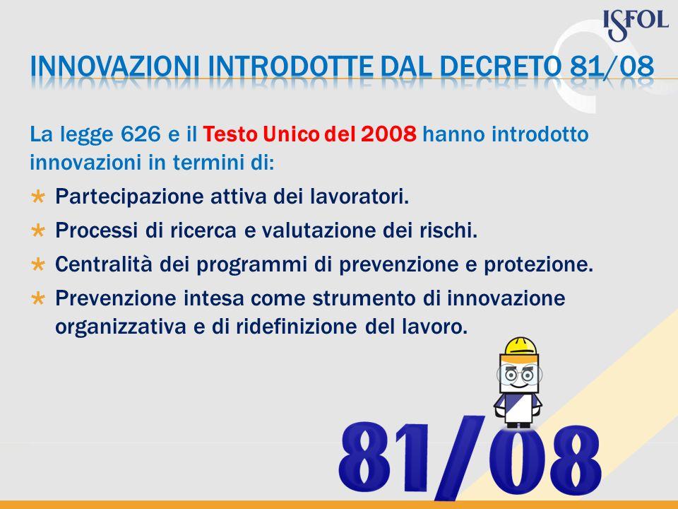 INNOVAZIONI INTRODOTTE DAL DECRETO 81/08