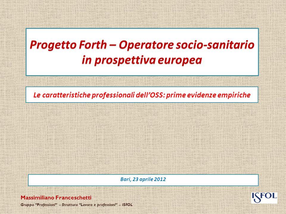 Progetto Forth – Operatore socio-sanitario in prospettiva europea