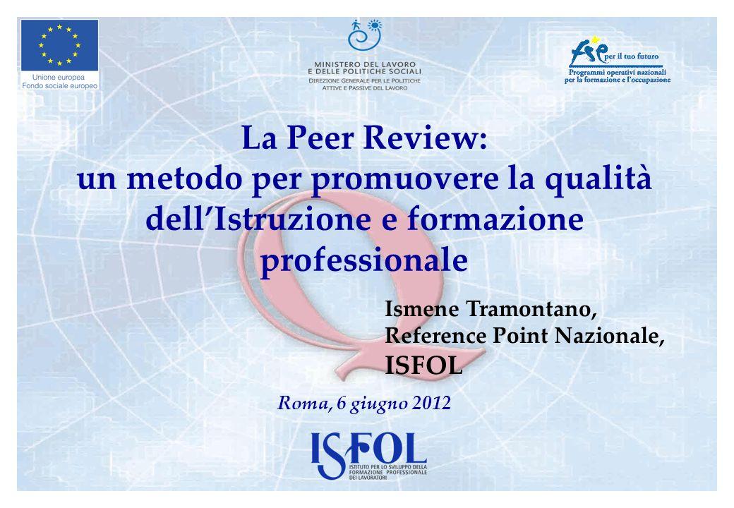 La Peer Review: un metodo per promuovere la qualità dell'Istruzione e formazione professionale
