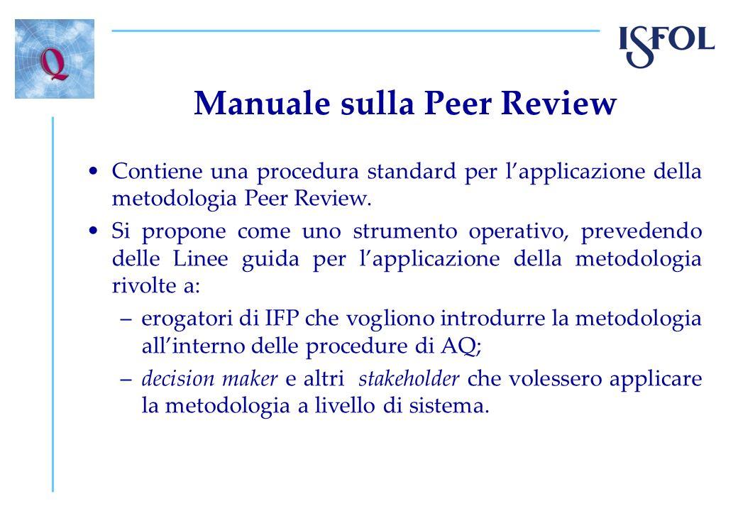 Manuale sulla Peer Review