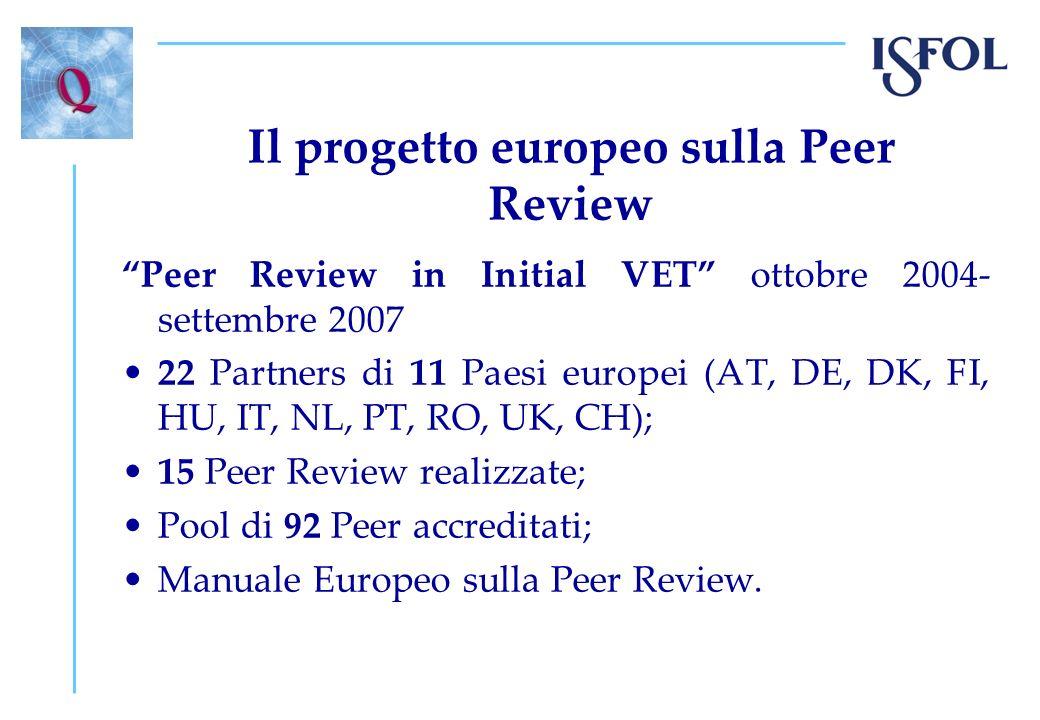 Il progetto europeo sulla Peer Review