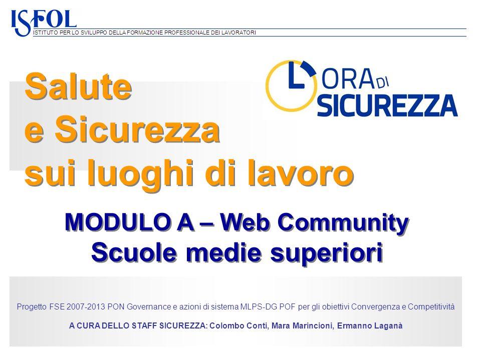 MODULO A – Web Community Scuole medie superiori