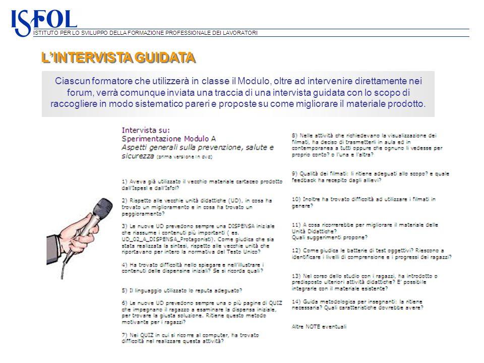 L'INTERVISTA GUIDATA