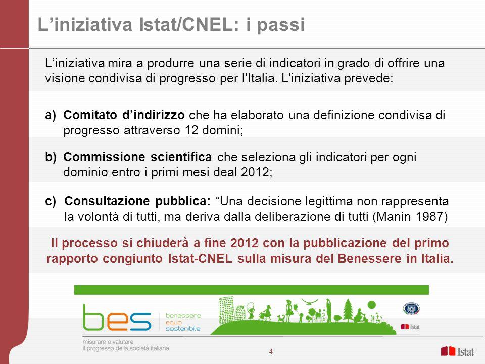 L'iniziativa Istat/CNEL: i passi