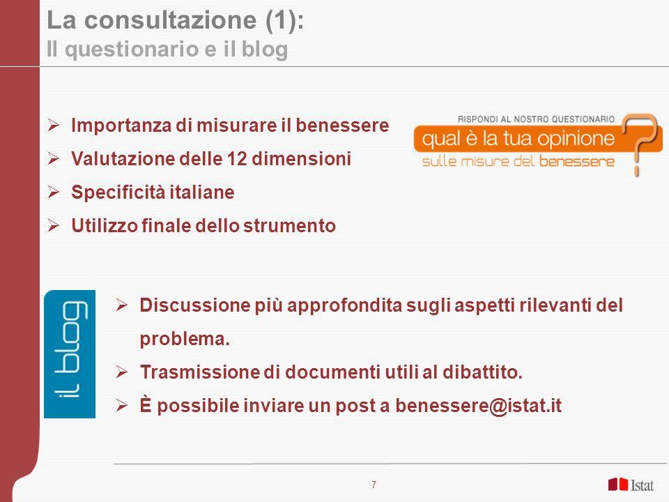 La consultazione (1): Il questionario e il blog