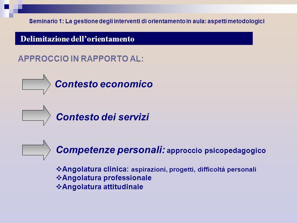 Competenze personali: approccio psicopedagogico