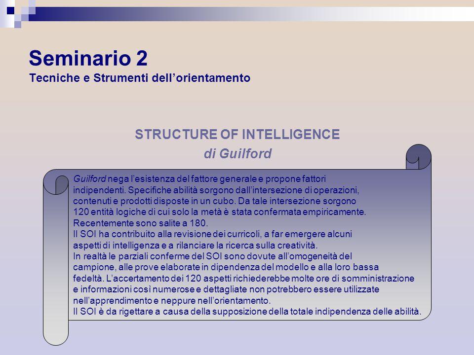 Seminario 2 Tecniche e Strumenti dell'orientamento