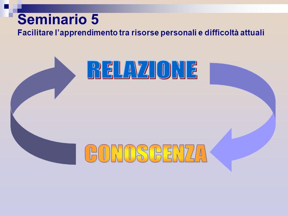 Seminario 5 Facilitare l'apprendimento tra risorse personali e difficoltà attuali