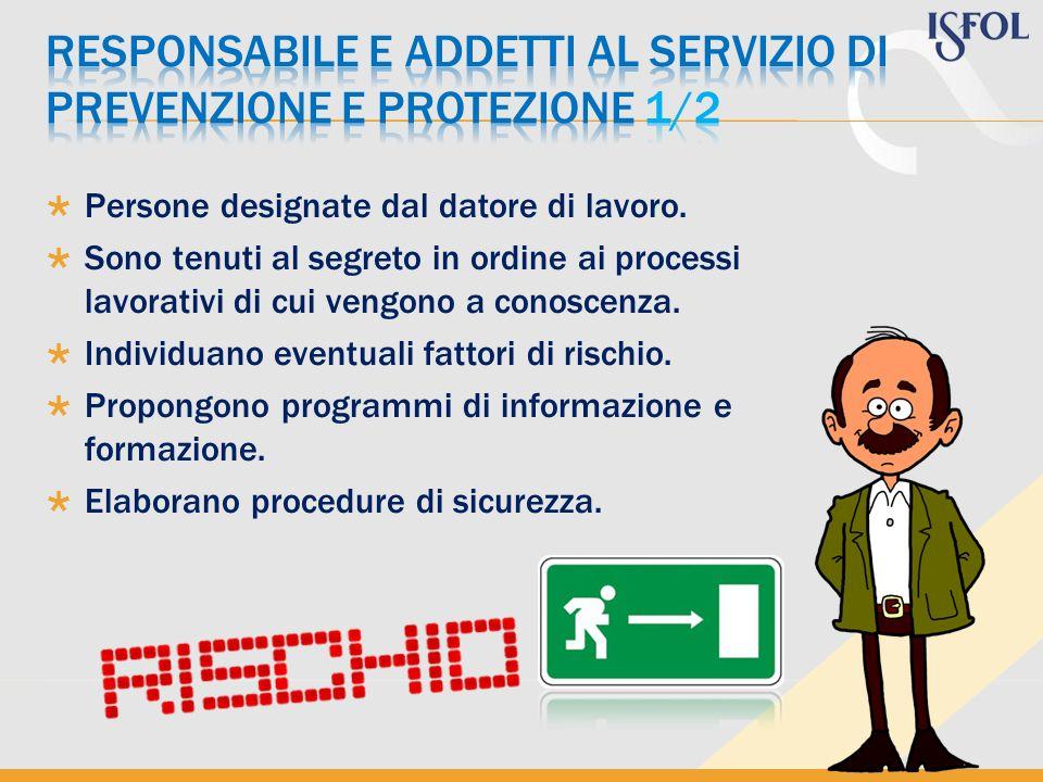 RESPONSABILE E ADDETTI AL SERVIZIO DI PREVENZIONE E PROTEZIONE 1/2
