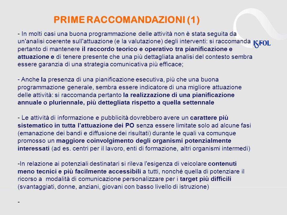 PRIME RACCOMANDAZIONI (1)