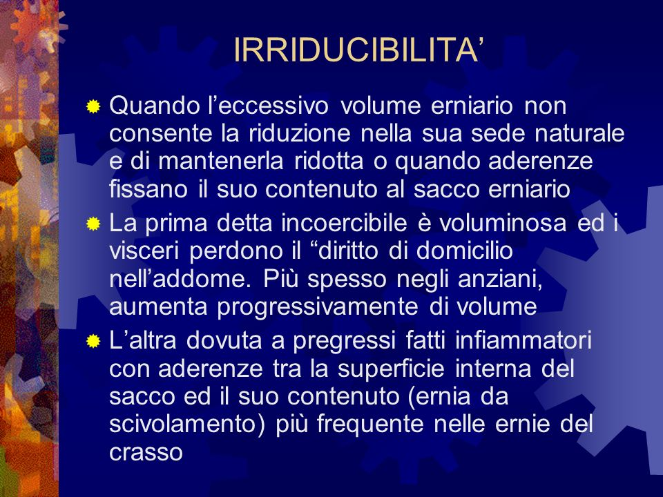 IRRIDUCIBILITA'