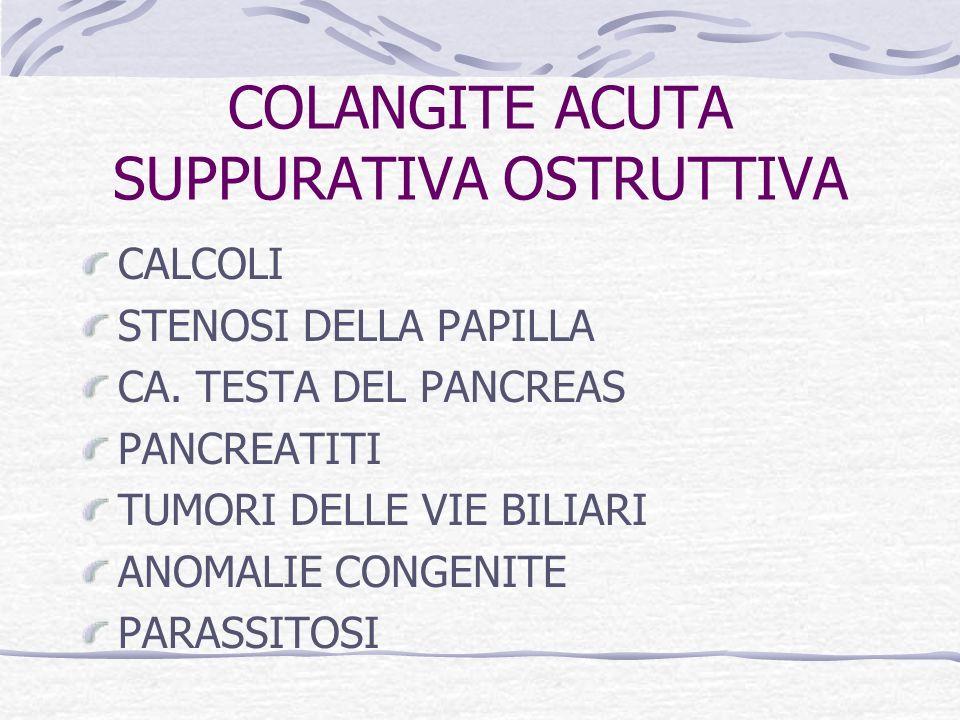 COLANGITE ACUTA SUPPURATIVA OSTRUTTIVA