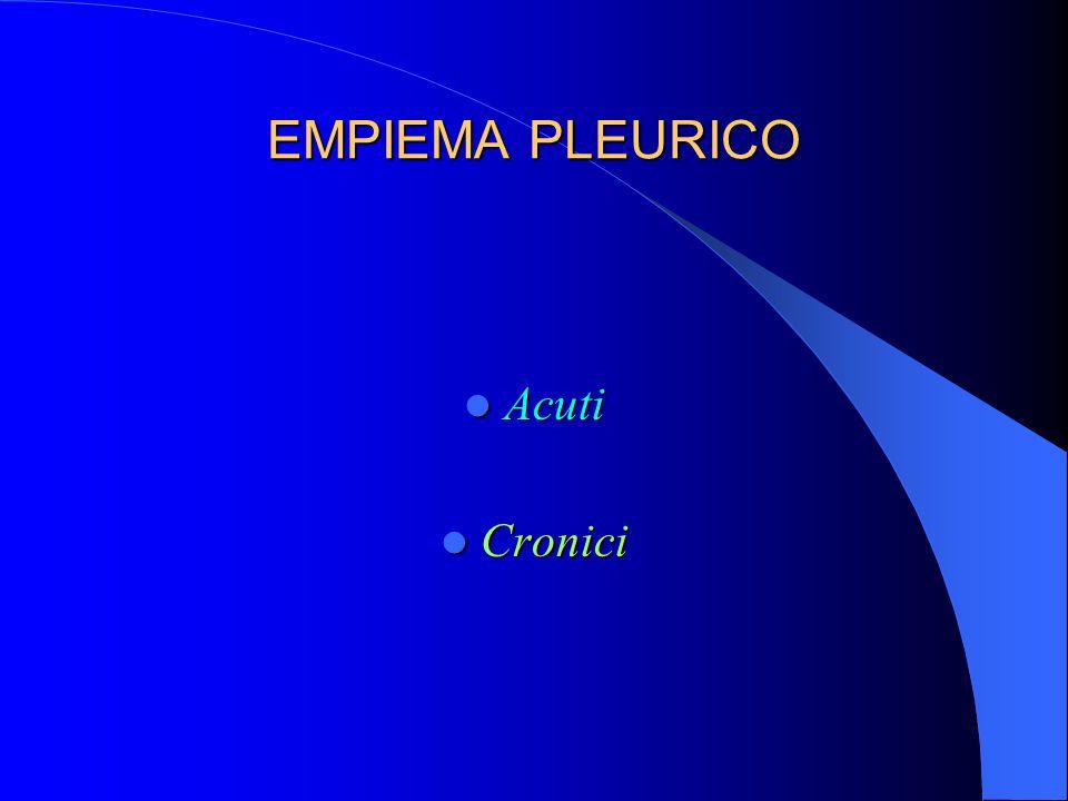 EMPIEMA PLEURICO Acuti Cronici