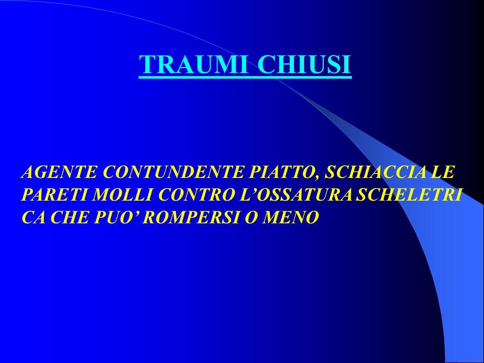 TRAUMI CHIUSI AGENTE CONTUNDENTE PIATTO, SCHIACCIA LE