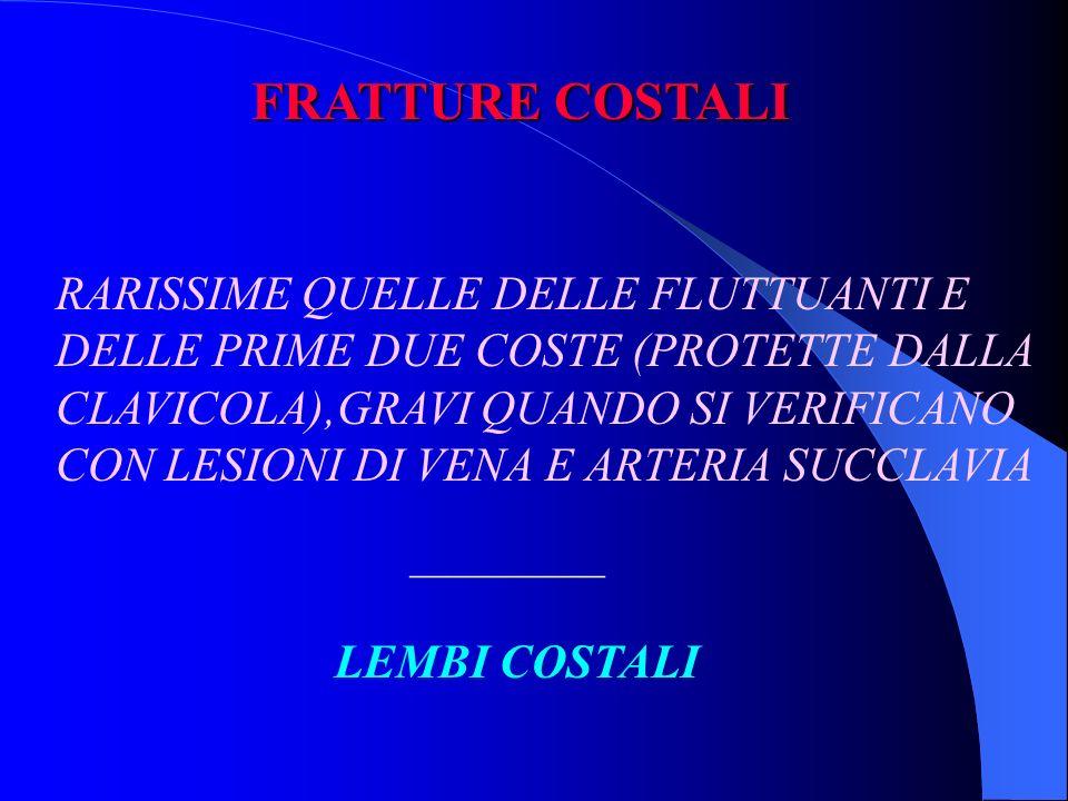 FRATTURE COSTALI RARISSIME QUELLE DELLE FLUTTUANTI E