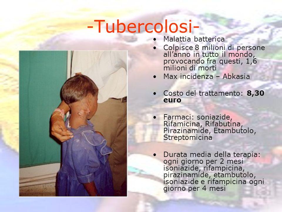-Tubercolosi- Malattia batterica