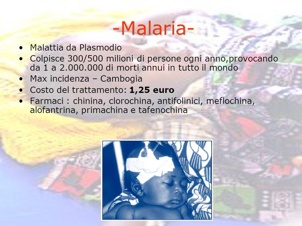 -Malaria- Malattia da Plasmodio