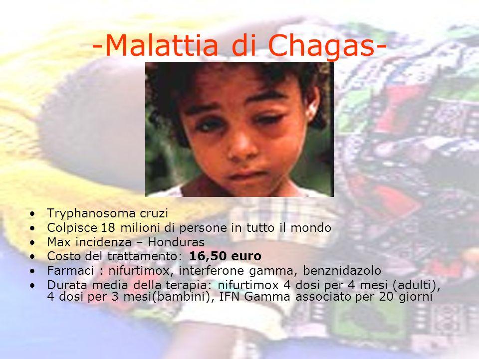 -Malattia di Chagas- Tryphanosoma cruzi