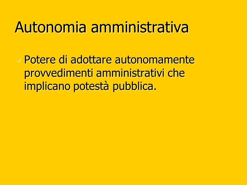 Autonomia amministrativa