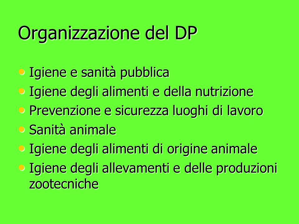 Organizzazione del DP Igiene e sanità pubblica
