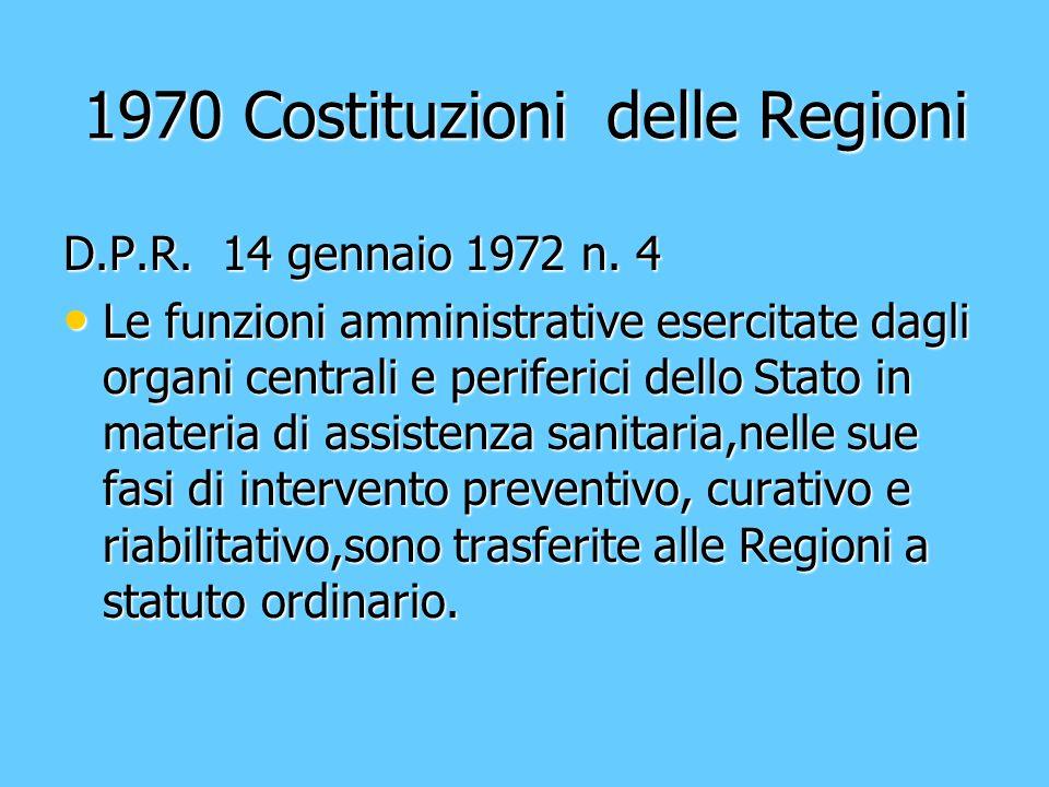 1970 Costituzioni delle Regioni