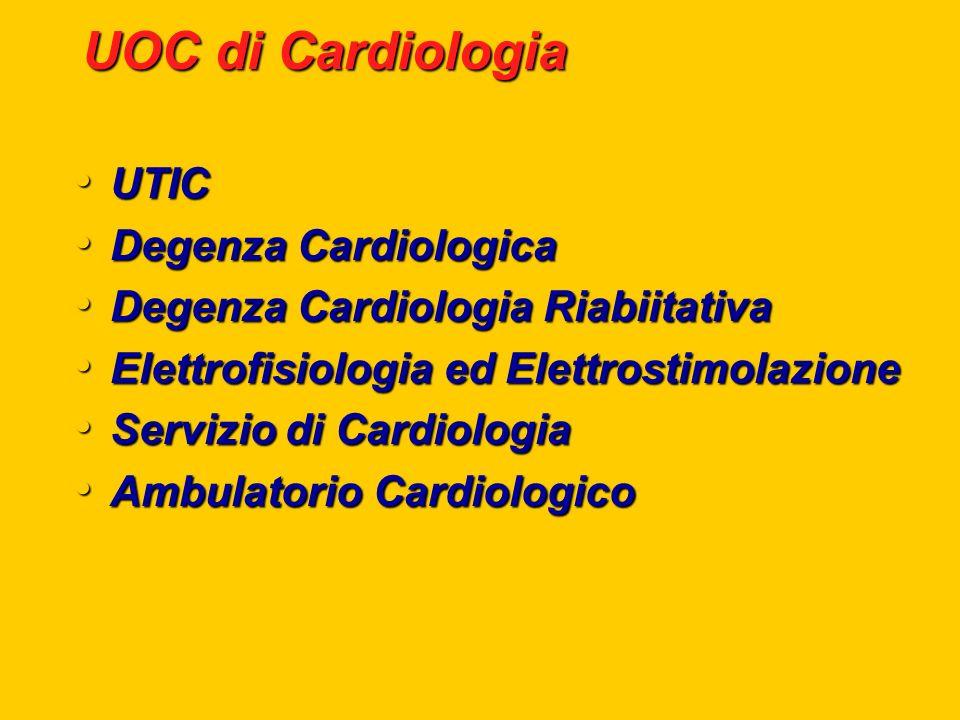 UOC di Cardiologia UTIC Degenza Cardiologica