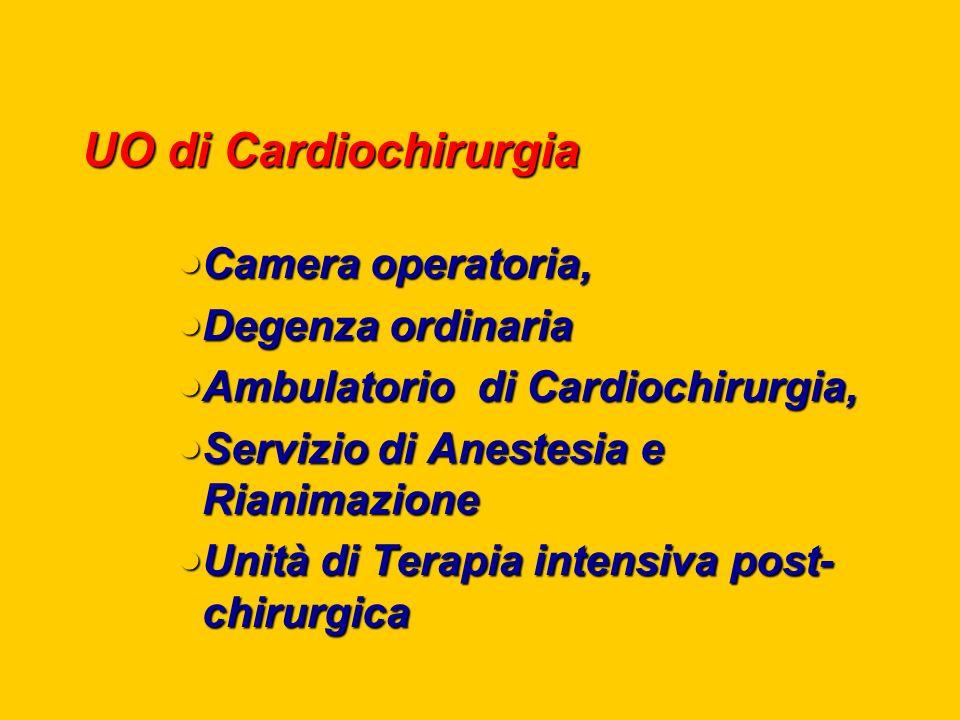 UO di Cardiochirurgia Camera operatoria, Degenza ordinaria