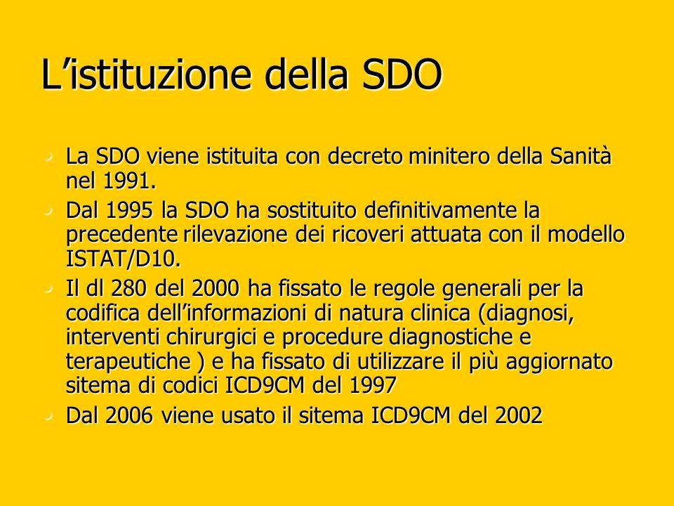 L'istituzione della SDO