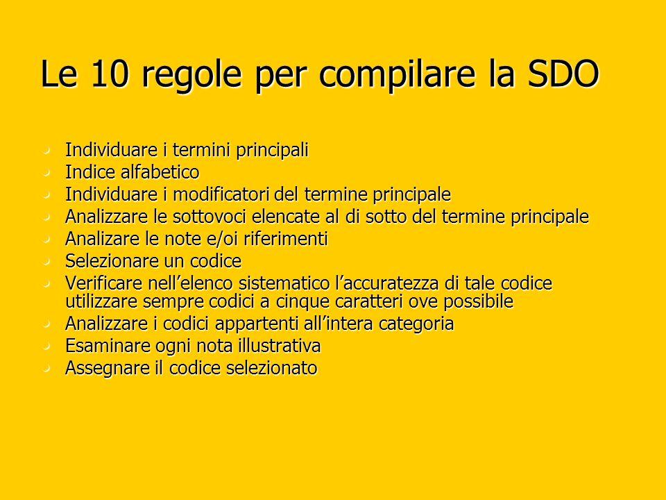 Le 10 regole per compilare la SDO