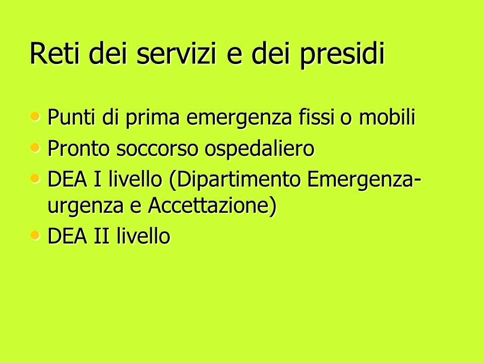 Reti dei servizi e dei presidi