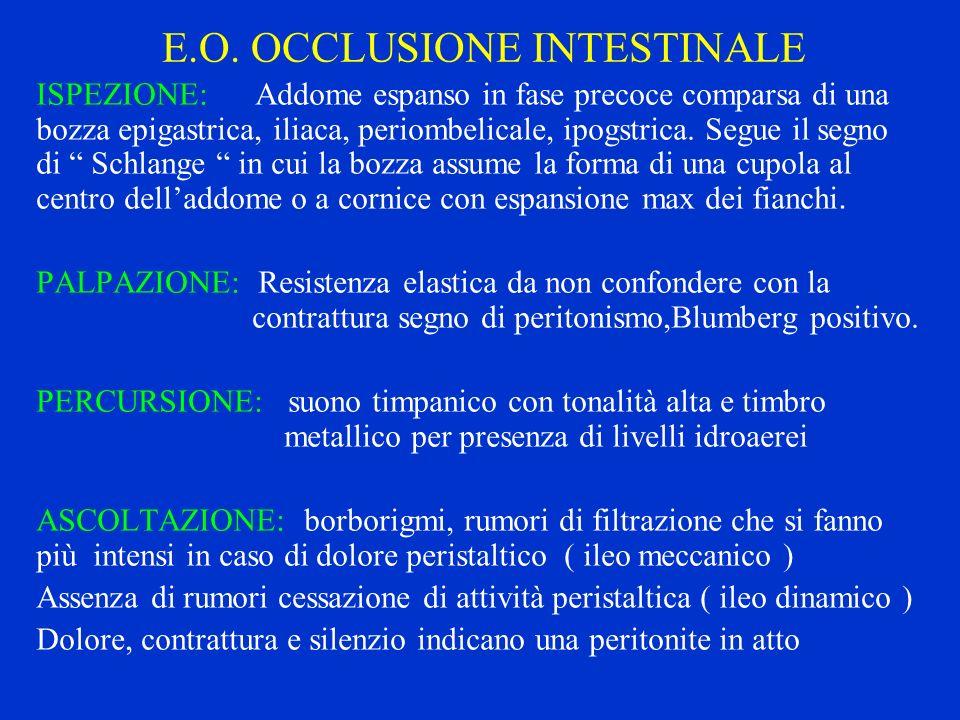 E.O. OCCLUSIONE INTESTINALE