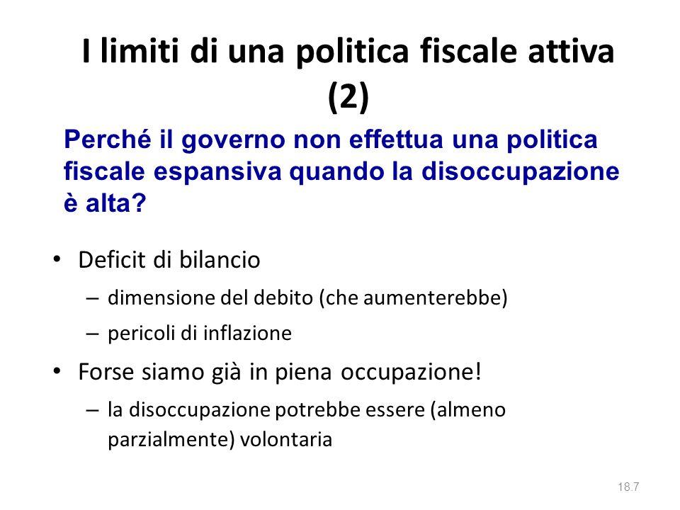 I limiti di una politica fiscale attiva (2)
