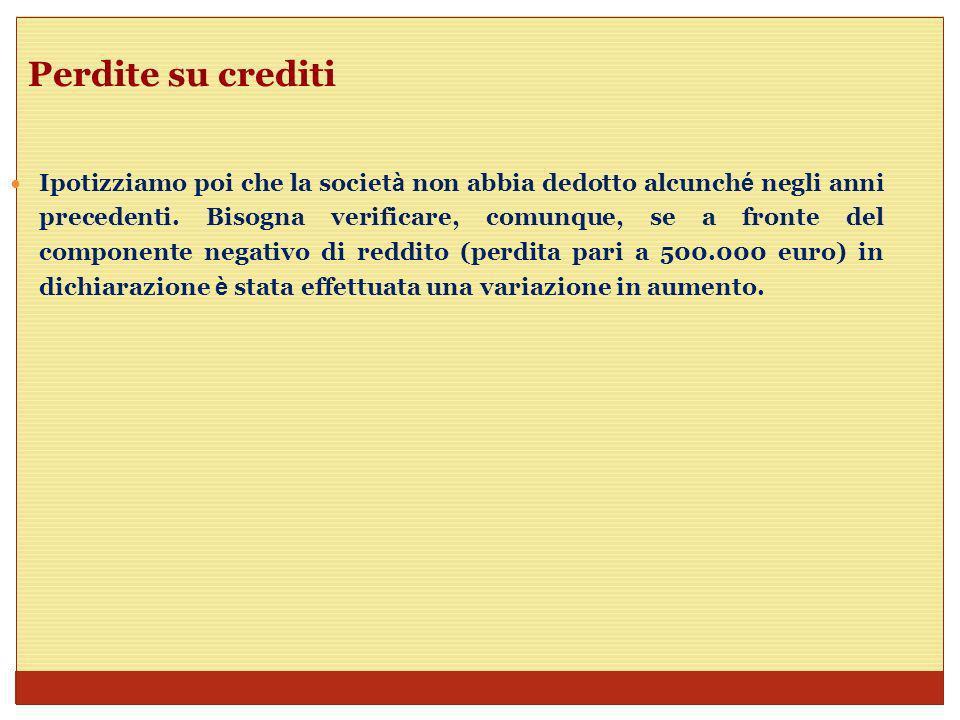 Perdite su crediti