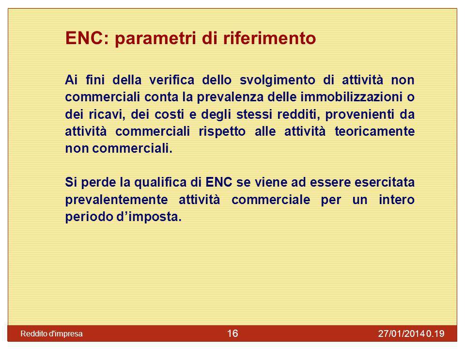 ENC: parametri di riferimento