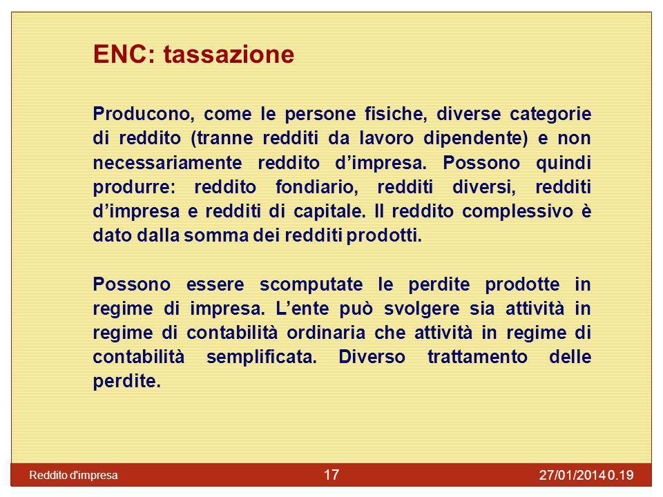 ENC: tassazione